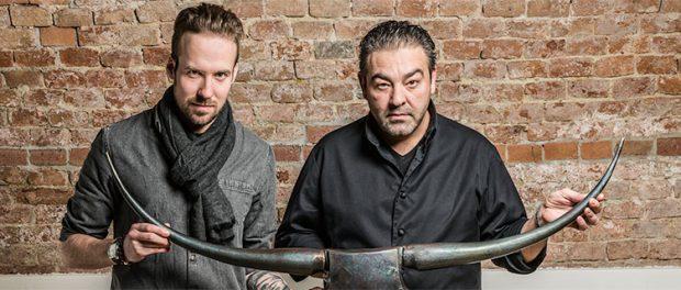 Sternekoch Juan Amador (re) und sein Chefkoch Sören Herzig, Gault & Millau Newcomer des Jahres 2017 (c) wesolutions, Monika Reiter, Rolling Pin
