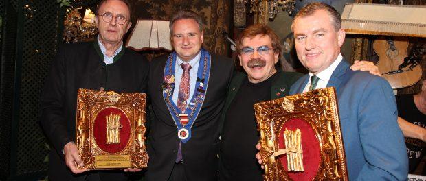 Feinschmecker des Jahres Hans Schmid, Bernhard Frais von Chaîne des Rotisseurs, Gerhard Bocek, Spargelkoch des Jahres Toni Mörwald