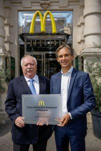 Dr. Michael Häupl und Andreas Schmidlechner, ©McDonalds Österreich