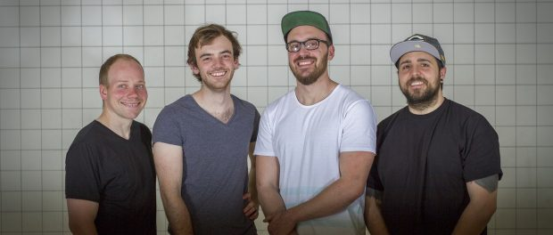 Die Gründer von Herd - Open Kitchen v.l.n.r.: Felix Münster, David Weber, Marko Ertl, Matthias Kroisz