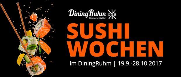 DiningRuhm Sushi-Wochen von 19. September bis 28. Oktober 2017