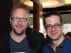 Fernsehkoch Oliver Hoffinger mit Gastro News Wien Macher Dominik Holter